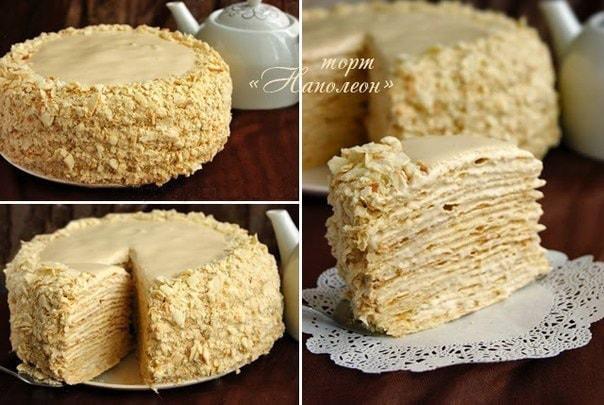 Торт наполеон - простой рецепт