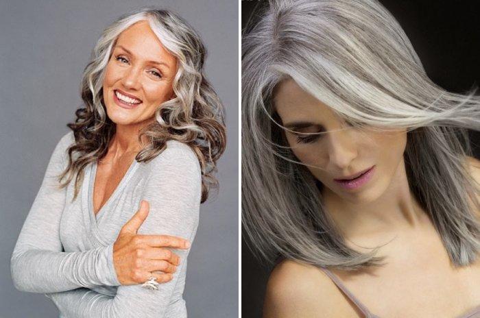 Милирование седых волос