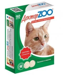 Доктор ZOO - витамины для кошек - отзывы