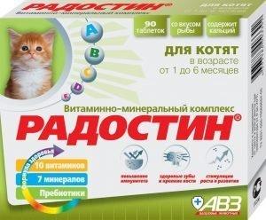 РАДОСТИН витамины для кошек - отзывы